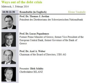 was out of debt crisis panel