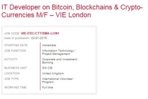 it developer on bitcoin societe generale