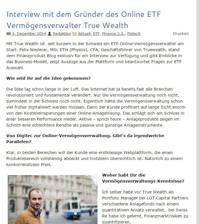 Interview Truewealth Dez 14