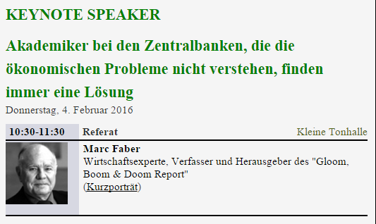 Marc Faber Finanzmesse 2016