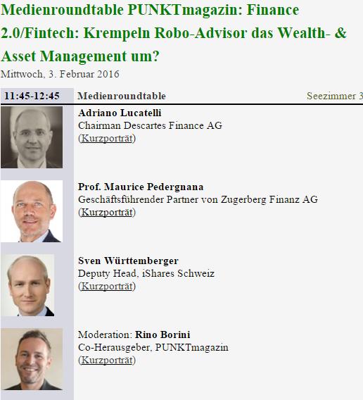 Robo Adviser Panel Finanzmesse