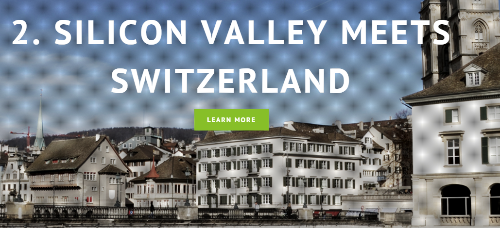 Sillicon Valley Meets Switzerland Fintech
