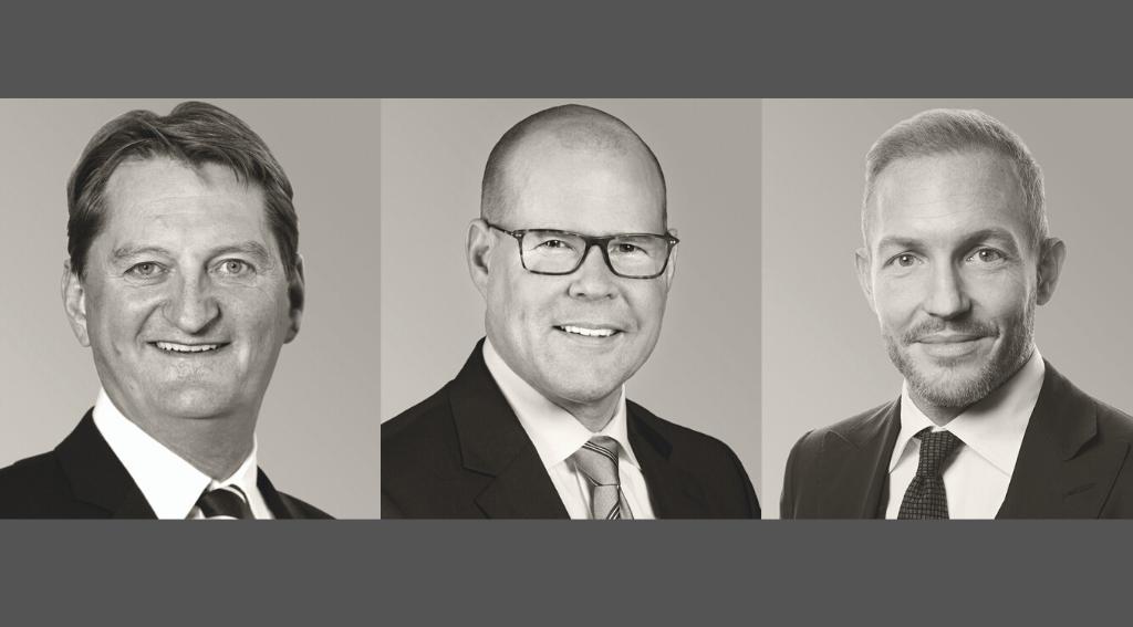 Markus Pfister, André Buck und David Schmid bilden das diesjährige Podium der «Strukturierer» – der allgemeine Wachstumstrend in der Struki-Branche hält weiter an